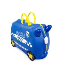 Trunki - Polizeiauto Percy - Ride-on und Reisekoffer - Blau