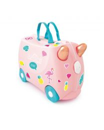 Trunki - Flamingo Flossi - Ride-on und Reisekoffer - Rosa