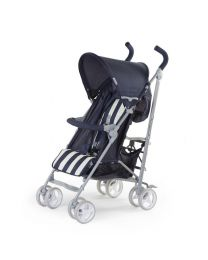 Childhome - Buggy 5 Pos Alu - Blau/Weiss Retro Stripes