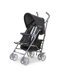 Childhome - Buggy 5 Pos Alu - Grau/Weiss Retro Stripes